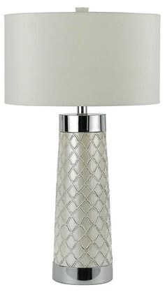 One Kings Lane - Illuminating Elements - Trellis Quilted Table Lamp