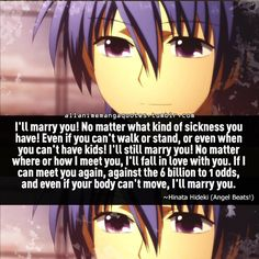 Angel Beats gave me so many feels. Hinata and Yui were such a beautiful pairing.