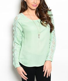 Another great find on #zulily! Mint Open-Back Top by Shop the Trends #zulilyfinds
