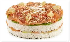 Sushi Torte, Food Design, Eat Smarter, High Tea, Salmon Burgers, Camembert Cheese, Cheesecake, Food And Drink, Cooking