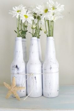 bottle vase flower