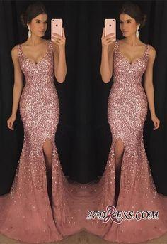 Gorgeous Sleeveless V-neck Crystal 2018 Evening Dress Mermaid With Crystal AP0_High Quality Wedding Dresses, Prom Dresses, Evening Dresses, Bridesmaid Dresses, Homecoming Dress - 27DRESS.COM