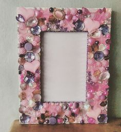 Pretty In Pink Embellished Photo Frame by OliBee18 on Etsy