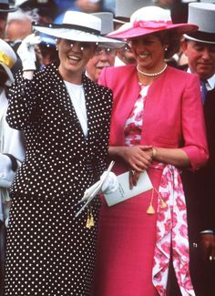 Princess Diana and Sarah, Duchess of York attend the Epson Derby, June 3, 1987.