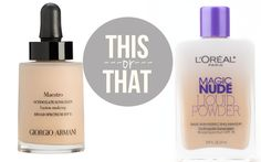 These two foundations are made with the exact same ingredients but are over $50 difference....Exact Dupe!