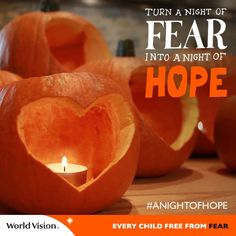 This Halloween, we're turning a night of fear into #ANightofHope to show support for vulnerable children. Join us and Repin!