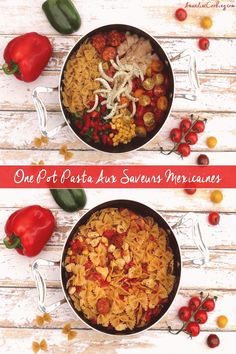 One pot pasta mexicain Amandine Cooking - One pot rezepte Healthy One Pot Meals, Easy One Pot Meals, 1200 Calorie Diet, 1200 Calories, Pasta Tomate, Paleo, One Pot Pasta, Le Diner, Batch Cooking