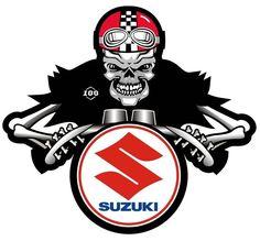 SUZUKI DEM BONES CAFE RACER MOTORCYCLE STICKER