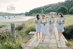 Vintage themed wedding...all done by the bride herself...stunning setting Matiatia Bay , Waiheke Island, Photography by Phillipa Karn