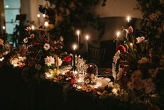 Moody wedding centrepieces paired roses and cosmos along with fall foliage, Spanish moss, fruits and pumpkins. Floral Wedding Decorations, Floral Centerpieces, Wedding Centerpieces, Wedding Table, Wedding Flowers, Table Decorations, Centrepieces, Chocolate Cosmos, Black Wedding Cakes