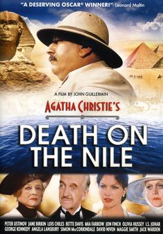 'Death On The Nile', 1978 - Peter Ustinov as Hercule Poirot with an All Star Cast, Bette Davis, Maggie Smith, Mia Farrow and Olivia Hussey.