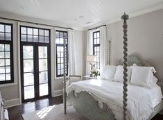 Bedroom in Accessible Beige by Jolene Smith Interiors Beige Living Rooms, Neutral Bedrooms, Trendy Bedroom, Masculine Bedrooms, White Bedrooms, Accessible Beige Sherwin Williams, Interior Paint Colors, Interior Design, Interior Ideas