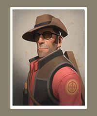 team fortress 2 - portrait sniper.