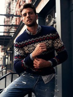 GANT Rugger Fair Isle Sweater Men's fashion and style