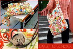 slouchy book bag by jodi