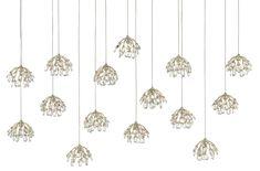 Rectangular Pendant, Pendant Lighting, Drop Pendant, Rectangular, Light, Cluster Lights, Pendant Light, Silver Leaf, Contemporary