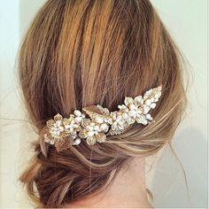 I like this for a Wedding Hair idea