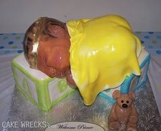And then there are the crap cakes.  A shiny half baby cake????