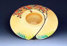 Carlton Ware posy bowl Clay Jar, Carlton Ware, Clarice Cliff, Antique Perfume Bottles, Glass Ceramic, Pressed Glass, Art Deco Design, Vintage Pottery, Vintage China