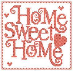 home sweet home etamin ablon PDF - Home Sweet Home - Cross Stitch House, Small Cross Stitch, Cross Stitch Charts, Modern Cross Stitch Patterns, Cross Stitch Designs, Cross Stitching, Cross Stitch Embroidery, Cross Stitch Alphabet, Plastic Canvas Patterns
