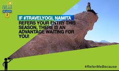 #TravelYogi, Namita, embarked on a spiritual quest through Bolivia and grabbed her dream. Now it's time for you to grab yours! Show Namita you're made of travel-worthy stuff and you could win an advantage in Season 2! T&C: http://cnk.com/T&CReferMeBecause