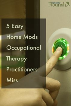 What are you, as an #OT practitioner, missing on your home modification assessments? Plus get FREE pdf quick reference guide   SeniorsFlourish.com #OccupationalTherapy #geriatricOT #homehealthOT