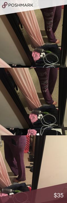 Victoria's Secret pink boyfriend pants These are a size extra small and to be honest I am a size 1314 and pants I'm a large or extra-large and clothing and these extra smalls fit me which is pretty amazing and to be honest you're the most comfortable pants of actually got in I don't want to sell but right now I need money because I'm going on a vacation and I want spending money therefore that's why am selling them PINK Victoria's Secret Other