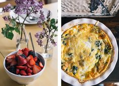 Berries + Crustless Quiche - simple and delicious brunch ideas! // Photos by Signe Birck