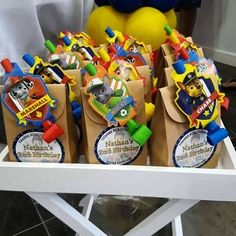 Paw Patrol Birthday Party Ideas Gift Favours Lolly Table Buffet