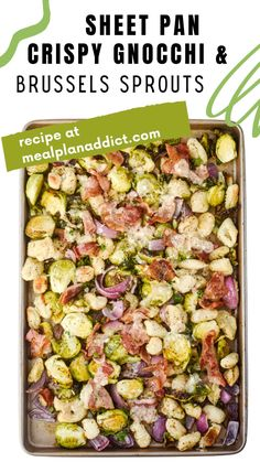 All You Need Is, Skinny Recipes, Healthy Recipes, Epic Meal Time, Go Veggie, 30 Minute Dinners, Sheet Pan Suppers, Sprouts With Bacon, Budget Meals