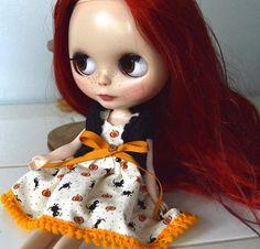 Blythe outfit Blythe Halloween dress Blythe shrug and dress