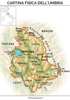 Toscana Umbria Cartina.8 Umbria Ideas Umbria Umbria Italy Italy