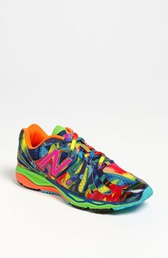It's kinda like a clown threw up on your shoes - but I love 'em.  Especially the rainbow shoe laces!!