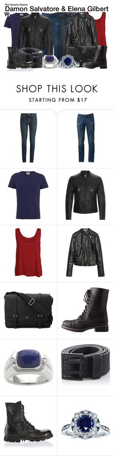 """""""The Vampire Diaries"""" by wearwhatyouwatch ❤ liked on Polyvore featuring Yves Saint Laurent, Urban Pipeline, Oliver Spencer, Sandro, WearAll, Zara, Serapian, Charlotte Russe, Imperial and Diesel"""