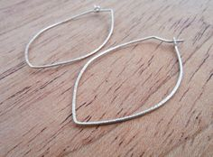 Sterling silver hoop earrings/ recycled by HartmannJewelryWorks