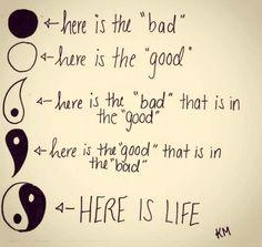 True words written. Balance is life.