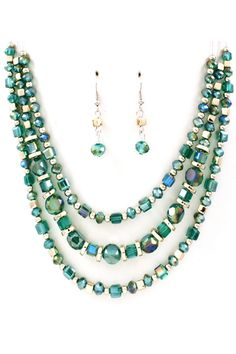 Taylor Necklace in Vitrail Teal on Emma Stine Limited