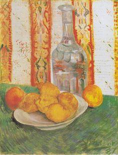 Van Gogh - Stillleben mit Flasche und Zitronen auf einem Teller, 1887