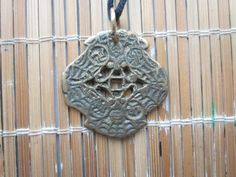 RARE Korean Yi Dynasty Double Butterfly Folk Coin Amulet Pendant - Happiness - by Gementia13Jewels