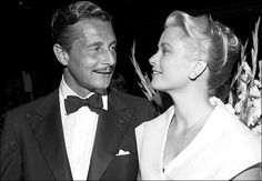 Oleg Cassini with Grace Kelly in 1954. Mr. Cassini designed clothes for her, and they were briefly engaged.