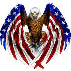 American Flag with Eagle and Dog Tags Tattoo | American flag eagle
