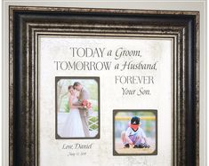 Celebrating the Special Moments in Your LIfe by PhotoFrameOriginals Wedding Gift for Parents Mother of the Groom, farmhouse signs for wedding day Thank You Gift For Parents, Wedding Gifts For Parents, Wedding Thank You Gifts, Wedding Gifts For Groom, Personalized Wedding Gifts, Gifts For Mom, Gift Wedding, Wedding Picture Frames, Wedding Frames