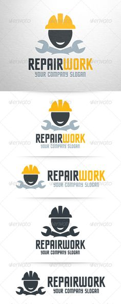 Repair Work Logo Template — Vector EPS #construction #company • Available here → https://graphicriver.net/item/repair-work-logo-template/7962216?ref=pxcr