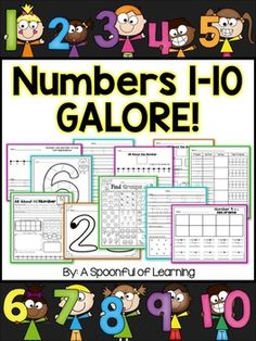 **Updated JULY 2015 (Download again if you already own to grab new updates and activities!)A great way to get students to know how to represent numbers 1-10 in a variety of ways! This pack includes TONS of number activities that you can do with your class to help them getting a deeper understanding of the numbers 1-10.