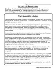american industrial revolution worksheet 2 worksheets social studies worksheets and. Black Bedroom Furniture Sets. Home Design Ideas