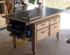 Garage Workshop Rent Kent and Diy Workshop Naperville. Woodworking Assembly Table, Woodworking Shop Layout, Woodworking Workbench, Woodworking Workshop, Woodworking Projects, Workshop Storage, Diy Workshop, Garage Workshop, Workshop Layout