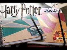 Harry Potter DIY Notebooks!! 2016 - YouTube
