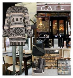 """Cafe☕️🥐🍩"" by oksana-kolesnyk ❤ liked on Polyvore featuring Uniqlo, Mela Loves London, Sydney Evan, Neiman Marcus, Skin & Tonic, Casetify, Isabel Marant, Forever 21 and Noir Jewelry"