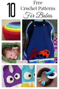 Are you looking for free crochet patterns for babies? Here are 10 free crochet patterns for anything from toys to clothing that make great handmade gifts.