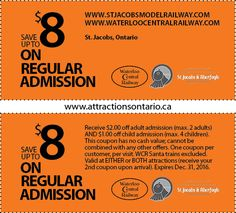 Check out these Ontario Attractions Coupons 2017 Ontario Attractions, Printable Coupons, Day Trips, Something To Do, Tourism, Travel, Summer, Model, Turismo